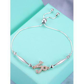 12 Star Sign Silver Bracelet - CAPRICORN