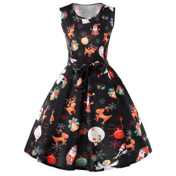 Christmas Reindeer 50s Swing Dress
