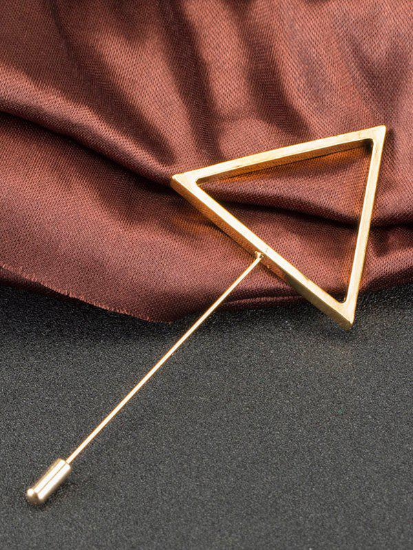 Broche Triangle en alliage simple - Or