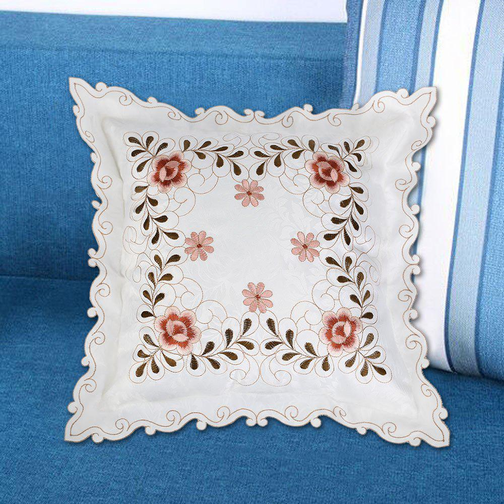 Embroidered Polyester Sofa Decorative Throw Pillow Case - ORANGE W18 INCH * L18 INCH