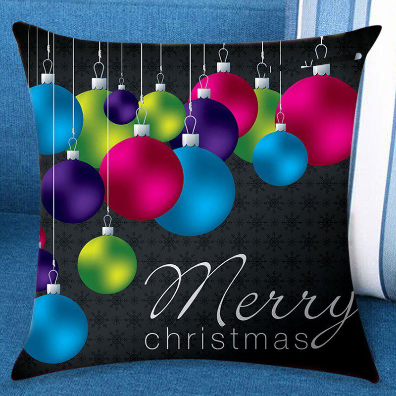 Merry Christmas Ball Patterned Pillow Case merry christmas decorations patterned throw pillow case