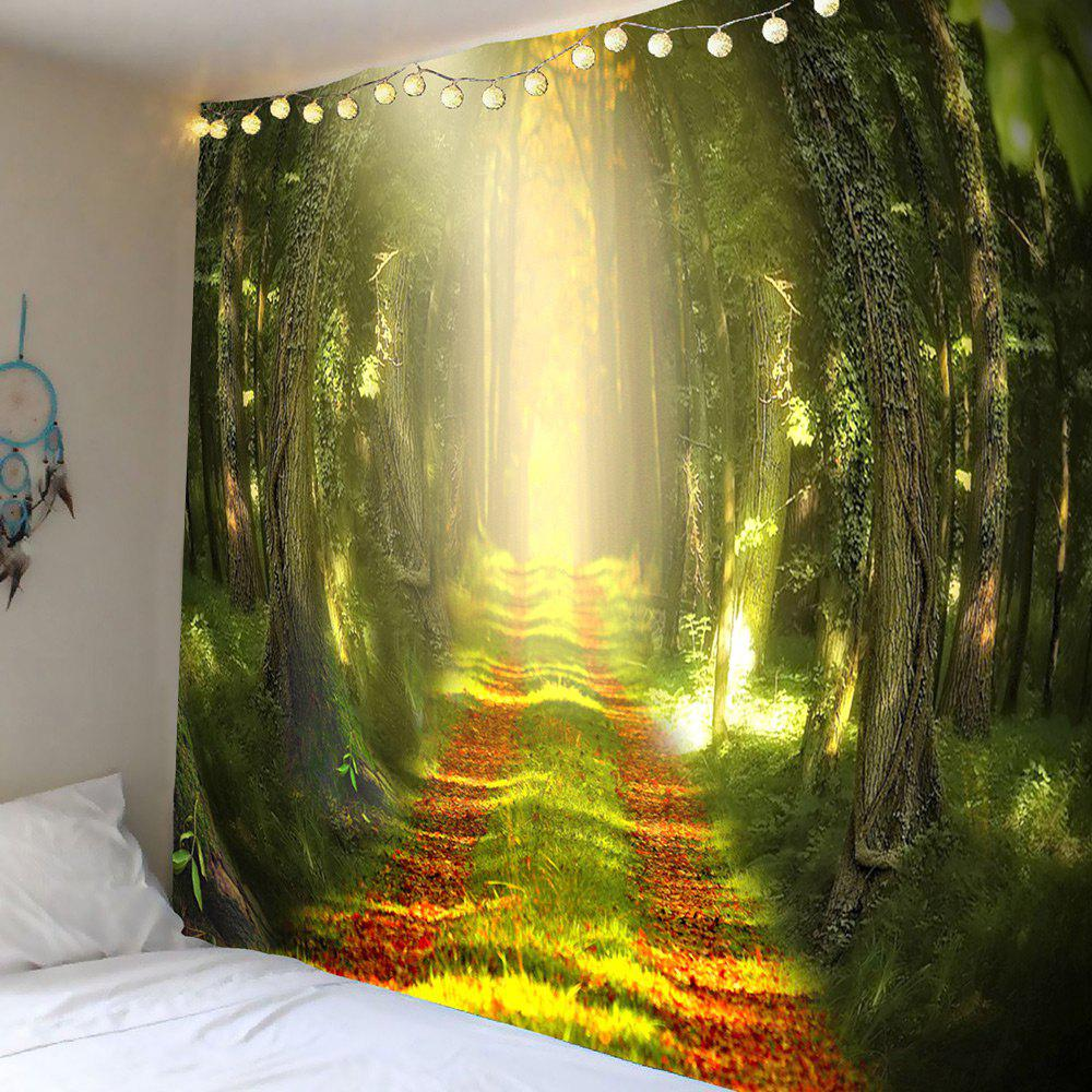 2018 Sunshine Forest Trail Printed Wall Art Tapestry GREEN W INCH L ...