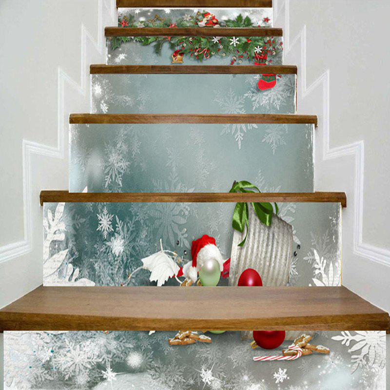 Christmas Theme Printed DIY Home Decorative Stair Stickers - COLORMIX 100*18CM*6PCS