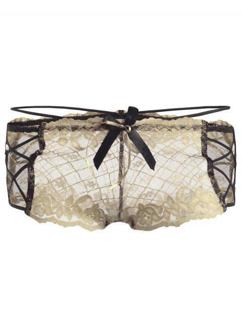 Lace Straps See Thru Panties - COMPLEXION ONE SIZE