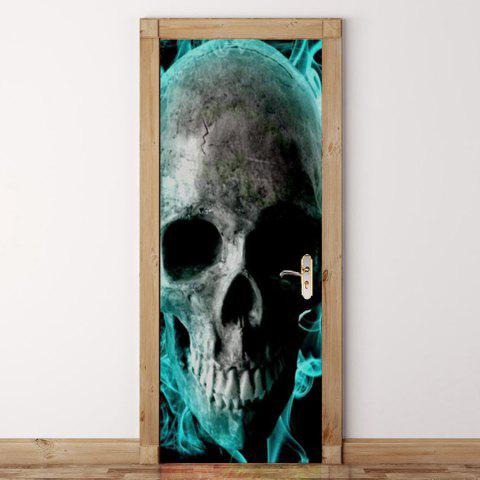 Skull Pattern Door Stickers - COLORMIX 38.5*200CM*2PCS