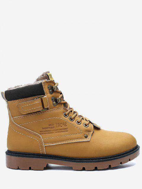 Lace Up Faux-fur Lined Chukka Boots - YELLOW 43