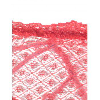 Lace Strappy See Thru Panties - RED ONE SIZE