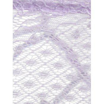 Lace Strappy See Thru Panties - PURPLE ONE SIZE