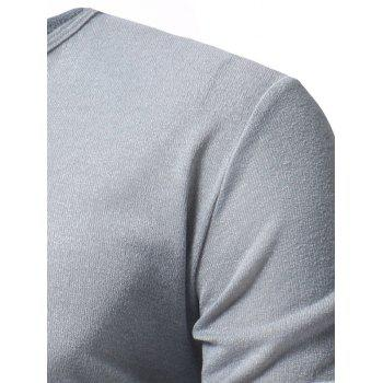 V Neck Classic Pullover Sweater - LIGHT GRAY M