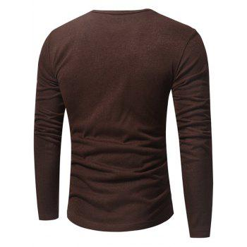 V Neck Classic Pullover Sweater - COFFEE M