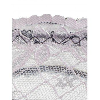 Lace Flounce See Through Panties - PINK ONE SIZE