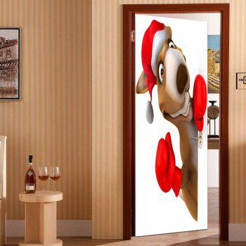 Christmas Kangaroo Patterned Door Stickers - COLORFUL 38.5*200CM*2PCS