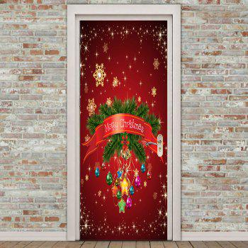 Environmental Removable Chrinstmas Home Decoration Printed Door Stickers - COLORFUL 38.5*200CM*2PCS