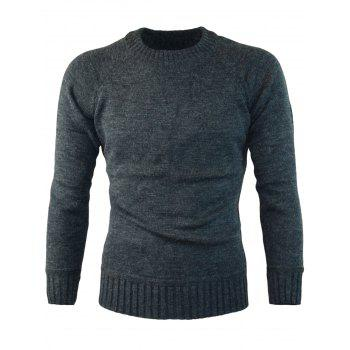Ribbed Edge Knitted Pullover Sweater