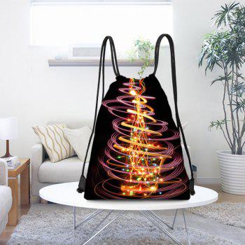 Gorgeous Christmas Tree Printed Drawstring Backpack - COLORFUL