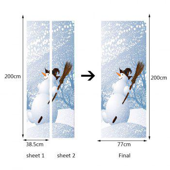 Snows Pattern Environmental Removable Door Stickers - WHITE 38.5*200CM*2PCS