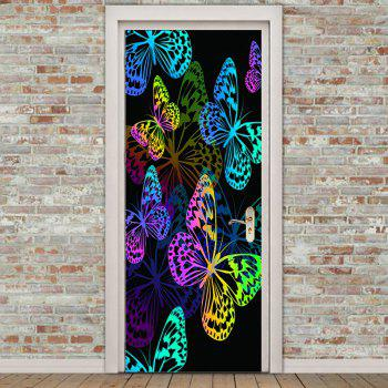 Colorful Butterfly Pattern Door Stickers - COLORFUL 38.5*200CM*2PCS