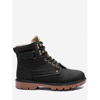 Round Toe Faux fur Lined Chukka Boots