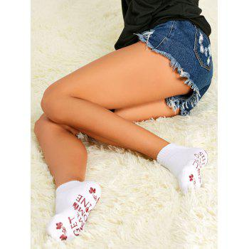Pair of Graphic Ankle Socks - WHITE WHITE