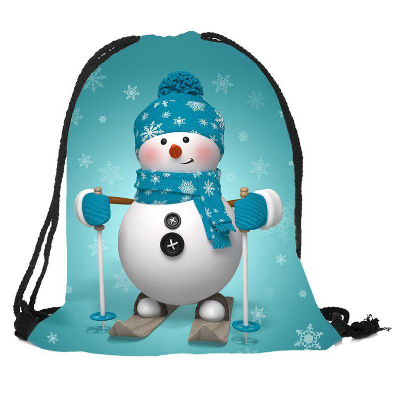 все цены на Christmas Snowman Pattern Candy Gift Bag Drawstring Backpack