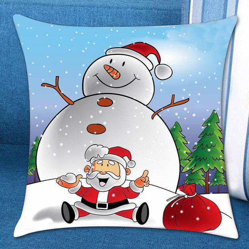 Christmas Snowman Printed Pillow Case holiday christmas cap printed pillow case