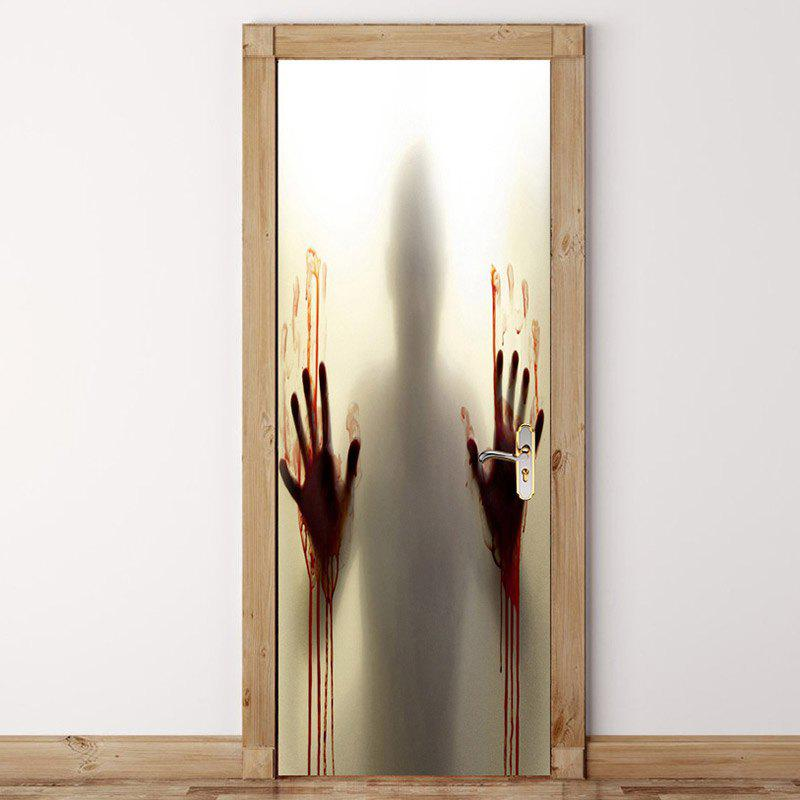 Halloween Terror Hand Patterned Door Art Stickers - GRAY 38.5*200CM*2PCS