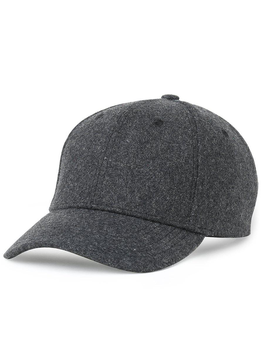 Lines Embroidered Decorated Artificial Wool Graphic Hat