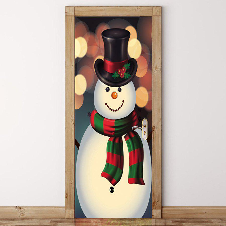 Snowman Patterned Christmas Drawstring Candy Storage Bag candy cane patterned drawstring gift bag storage backpack