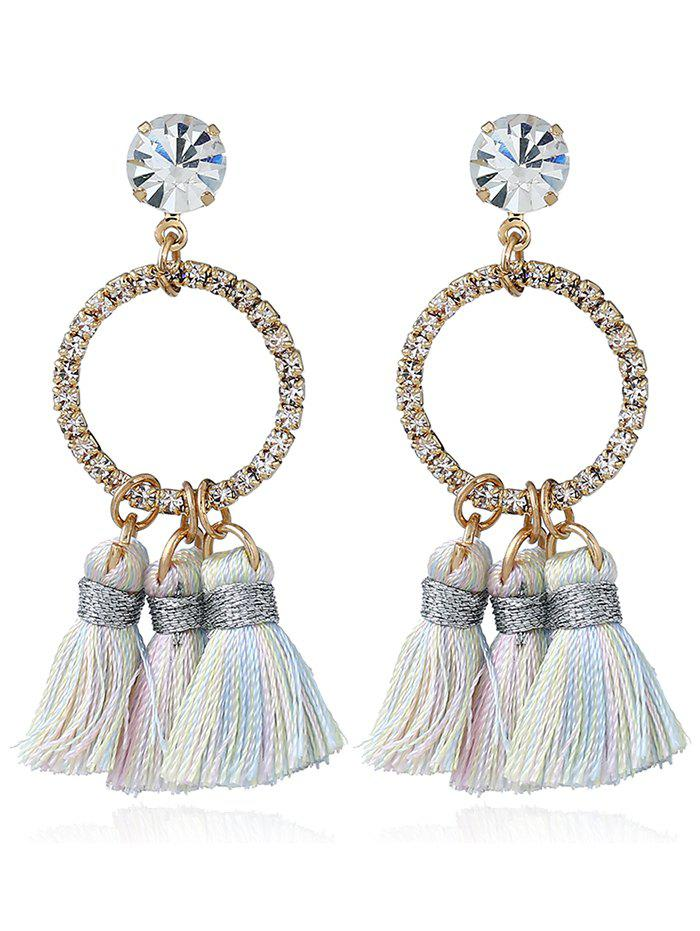Sparkly Rhinestone Circle Tassel Drop Earrings игрушка сима ленд раздели на части 7 105403