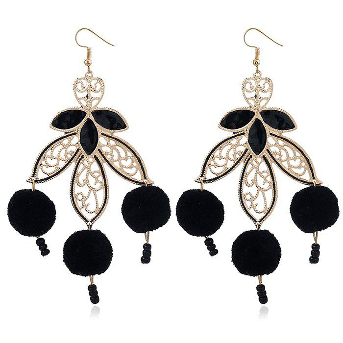 Fuzzy Ball Leaf Beads Chandelier Earrings 5pcs 304 stainless steel wave beads positioning beads marbles boyjazz ball screws tight spring ball plunger m5 12mm cpc182