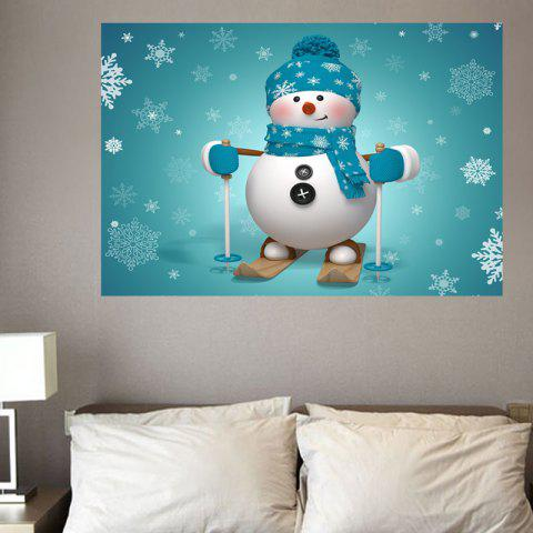 d55edf00dec LIMITED OFFER  2019 Skiing Snowman Wall Art Stickers In COLORFUL W20 ...