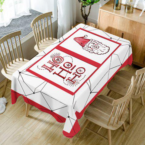 Christmas Santa Claus Print Waterproof Table Cloth - RED W60 INCH * L84 INCH