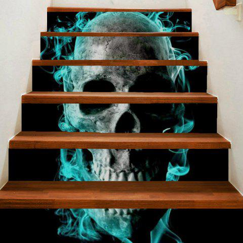 Horrible Skull Pattern Decoration Stair Stickers - GRAY 100*18CM*6PCS