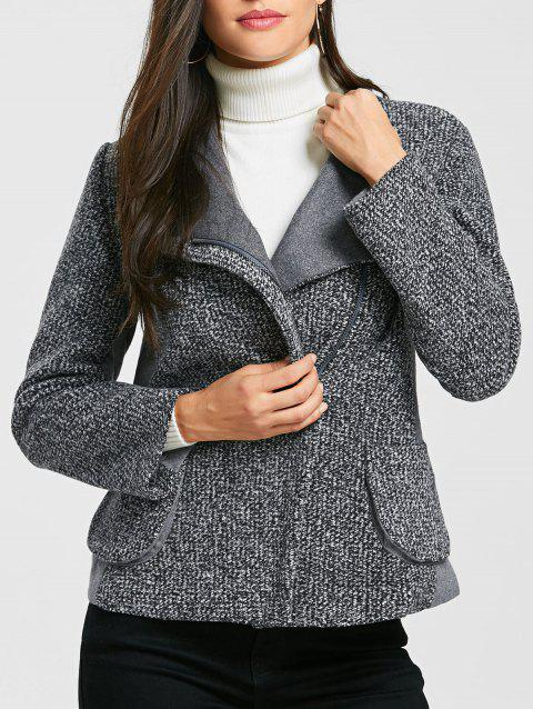Veste en laine Tweed Oblique Zipper - Gris XL