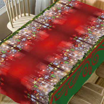 Christmas Hanging Ornaments Print Fabric Waterproof Table Cloth - COLORMIX W54 INCH * L72 INCH