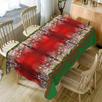 Christmas Hanging Ornaments Print Fabric Waterproof Table Cloth
