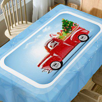 Christmas Car Tree Print Waterproof Table Cloth - COLORMIX W60 INCH * L84 INCH