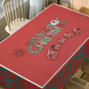 Nappe Imperméable Imprimé Train et Merry Christmas - Rouge W60 INCH * L84 INCH