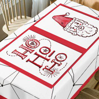 Christmas Santa Claus Print Waterproof Table Cloth - RED W54 INCH * L72 INCH