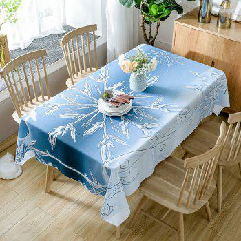 Christmas Snowflake Print Waterproof Table Cloth - LIGHT BLUE W54 INCH * L72 INCH
