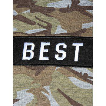 Kangaroo Pocket BEST Embroidery Patch Hoodie - CAMOUFLAGE 2XL