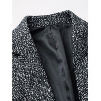 Edging One Button Woolen Blazer - KHAKI 3XL