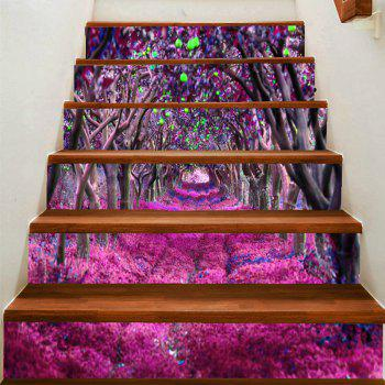 Fantasy Flower Road Pattern Stair Stickers - COLORFUL COLORFUL