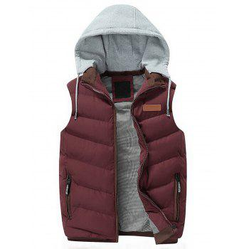 Lightweight Winter Warm Hooded Vest - RED RED