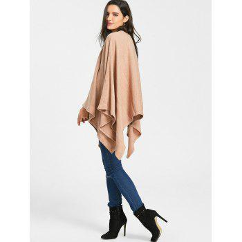 Batwing Sleeve Crew Neck Sweater - APRICOT ONE SIZE