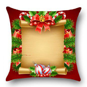 Christmas Scroll Decorations Printed Throw Pillow Case - YELLOW/RED W12 INCH * L20 INCH