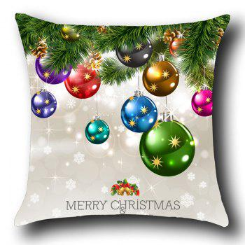 Christmas Colorful Balls Print Throw Pillow Case - COLORFUL W12 INCH * L20 INCH