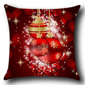 Christmas Snowflakes Balls Print Throw Pillow Case - DEEP RED W12 INCH * L20 INCH