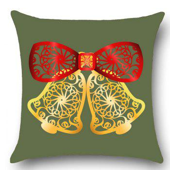 Hollow Cut Bells Patterned Throw Pillow Case - ARMY GREEN W12 INCH * L20 INCH