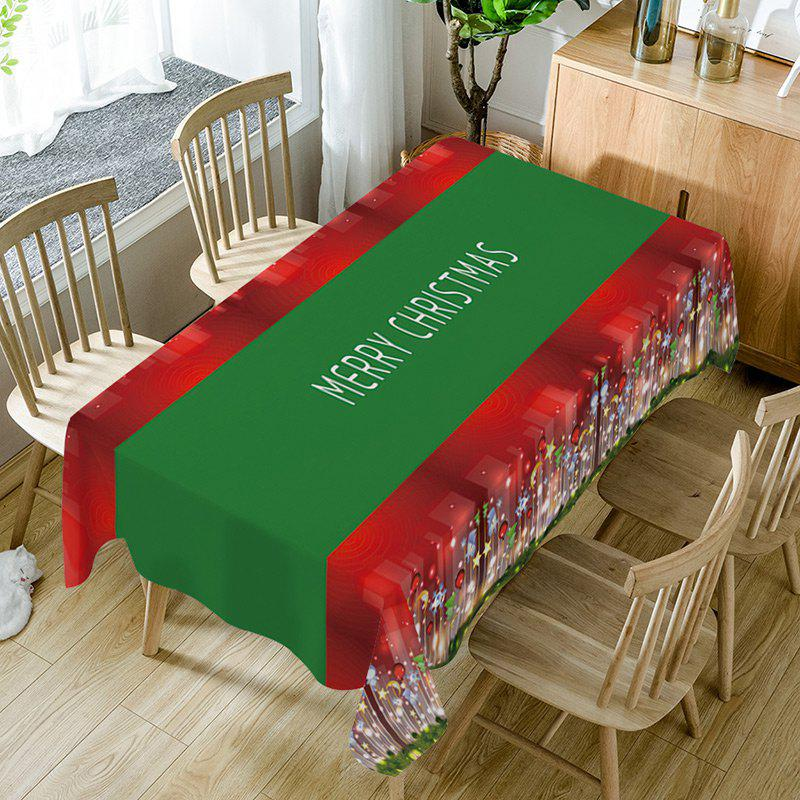 Nappe de Table Imperméable Imprimé Inscription Merry Christmas - multicolorcolore W60 INCH * L84 INCH